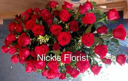 roses coffin