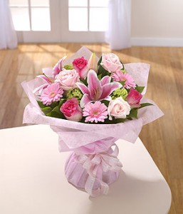 Peaceful Pink Hand-Tied Bouquet