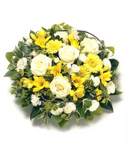 Yellow and White Posy Arrangement