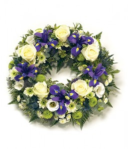 Traditional Round Wreath - Iris