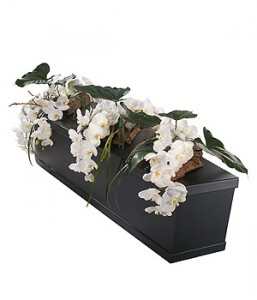 White Orchid Casket Bar Trio