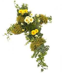 Yellow Planted Cross